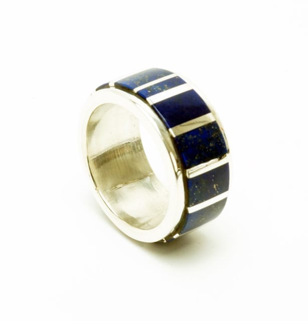 Hanson Smith lapis lazuli inlay ring