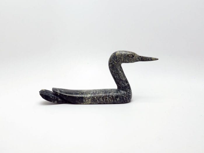 Inuit sculpture Sanguani Oshuitok Loon