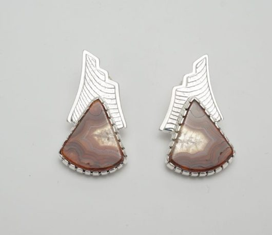 Althea Cajero Crazy Lace Agate earrings