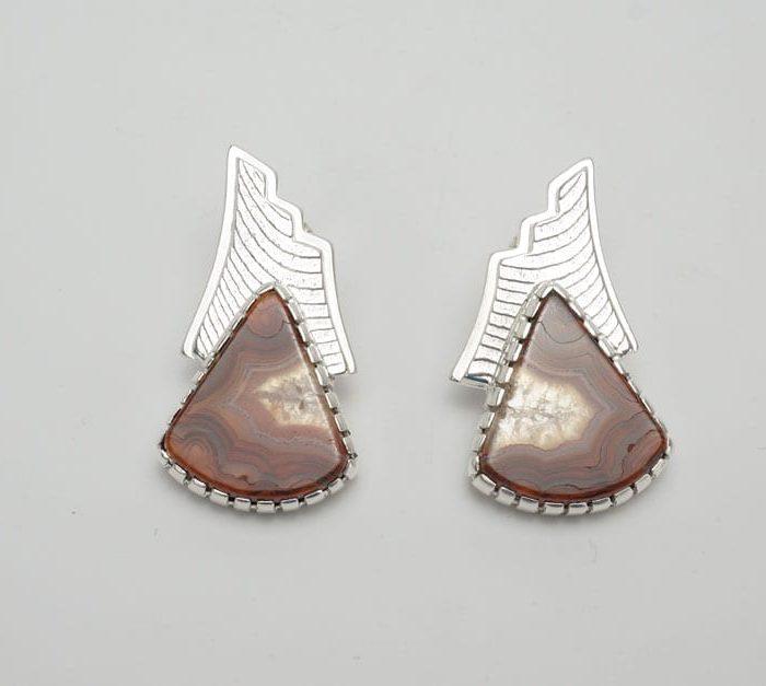 Althea Cajero Crazy Lace Agate earrings