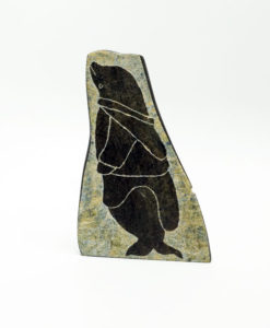 Inuit sculpture Annie Ainalik seal transformation etching