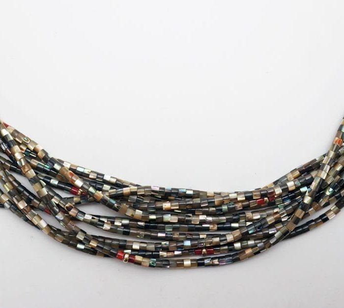 Deanna Tenorio ten strand abalone necklace