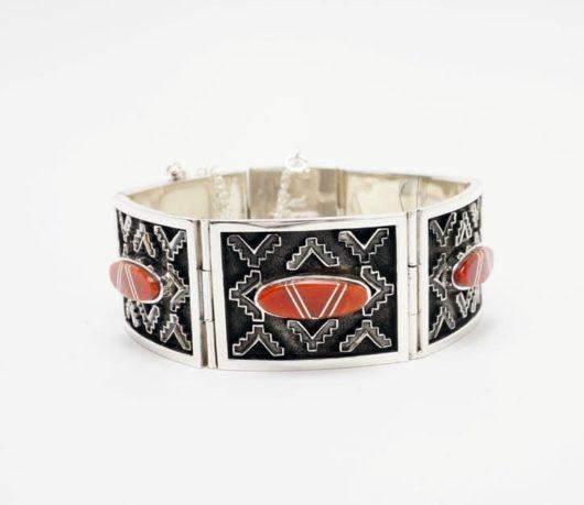 Earl Plummer rug design coral bracelet