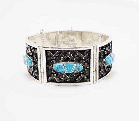 Earl Plummer rug design turquoise bracelet