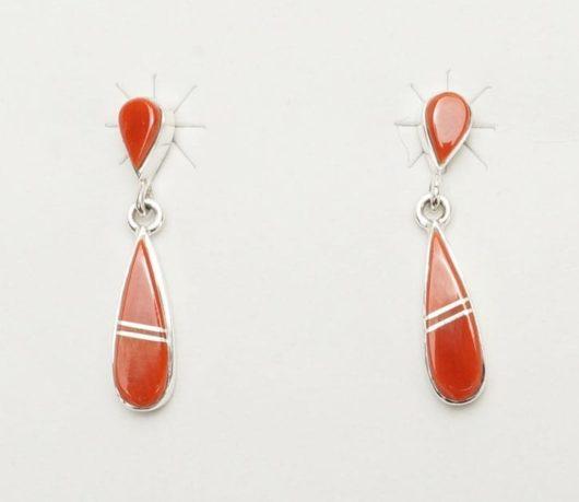 Earl Plummer double drop coral earrings