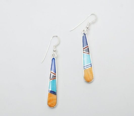Earl Plummer Long Inlaid Earrings