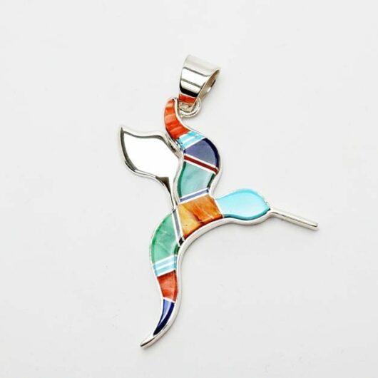 Earl Plummer inlaid hummingbird pendant