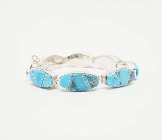 Earl Plummer Morenci turquoise oval link bracelet
