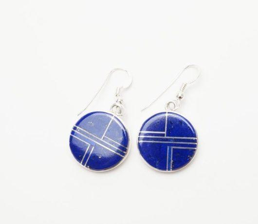 Earl Plummer round lapis lazuli earrings