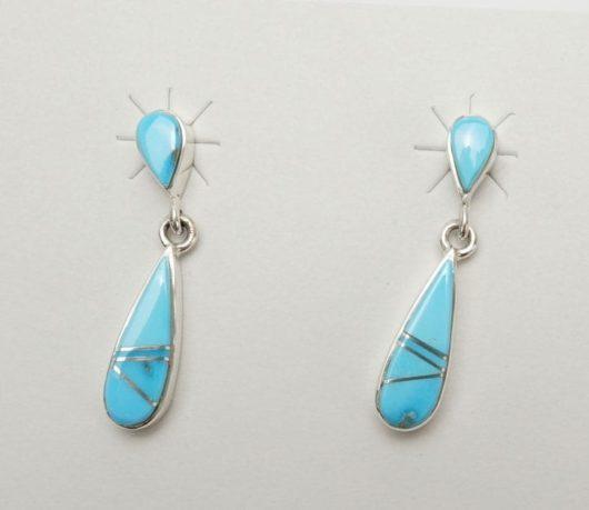 Earl Plummer Double Drop Turquoise Earrings