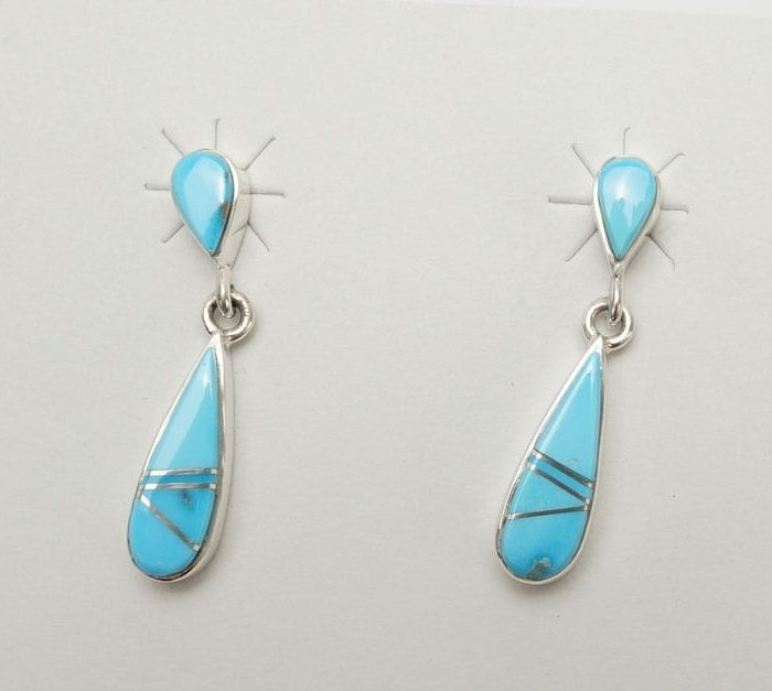 Earl Plummer Double Drop Turquoise Earrings