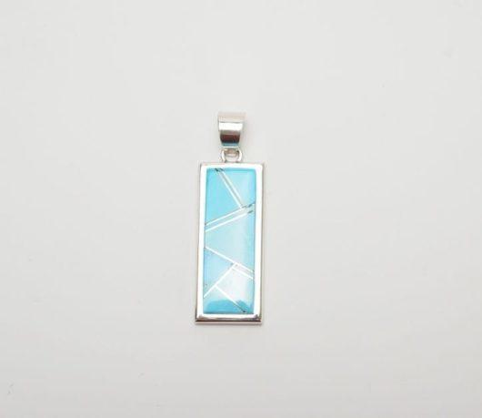 Earl Plummer rectangular turquoise pendant