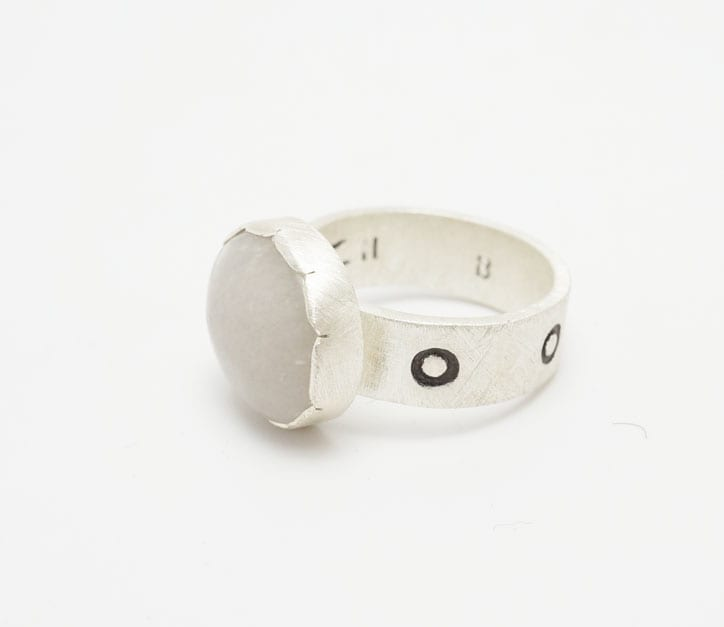 Heidi BigKnife quartz ring