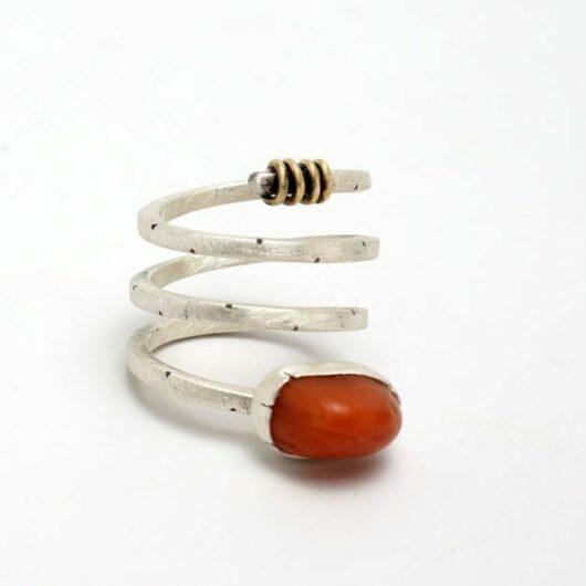 Heidi BigKnife spiral ring