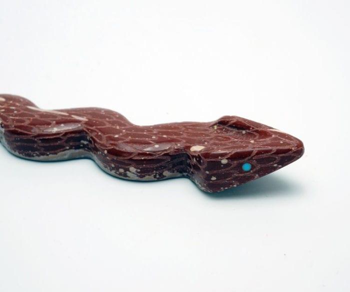 Zuni fetish Jose Espino pipestone snake