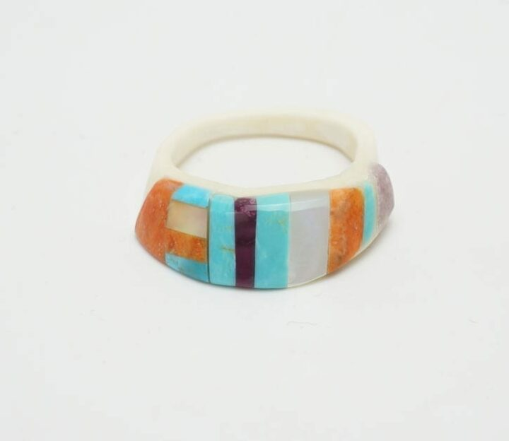 Lorenzo Tafoya inlaid ring