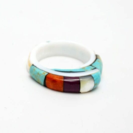 Lorenzo Tafoya inlaid shell ring