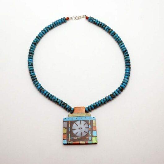 Mary Tafoya geometric necklace