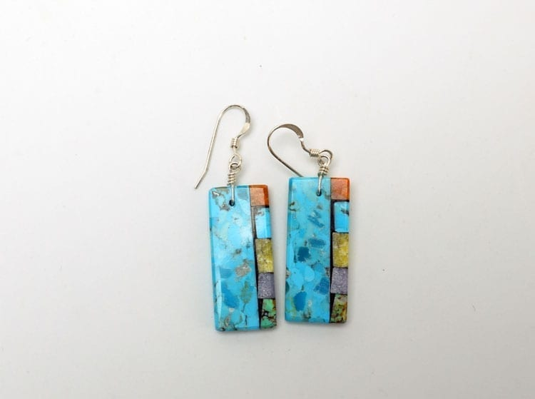 Mary Tafoya side mosaic earrings 2