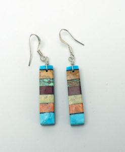 Mary Tafoya stacked mosaic earrings 2