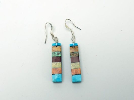 Mary Tafoya stacked mosaic earrings 2