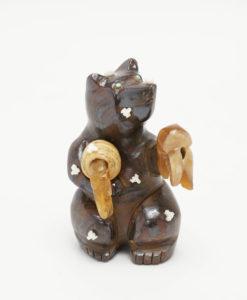 Zuni Fetishes Ron Laahty Boulder Opal Bear