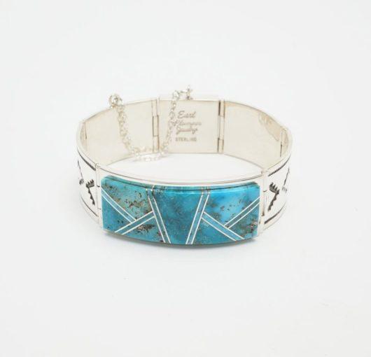 Earl Plummer Morenci turquoise link-cuff bracelet