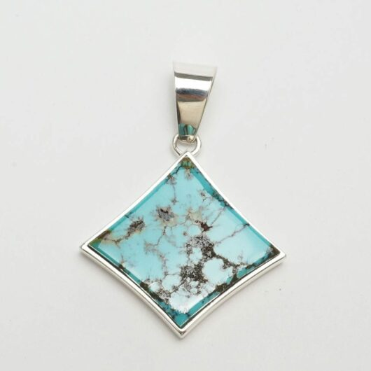 Earl Plummer Red Mountain turquoise pendant