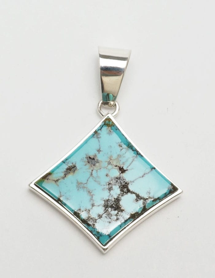 Earl Plummer Red Mountain turquoise pendant
