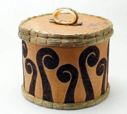 Aron Griffith birch bark fern basket