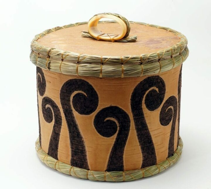 Aron Griffith birch bark fern basket
