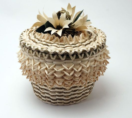 Molly Neptune Parker Braided Sweetgrass Flower Basket