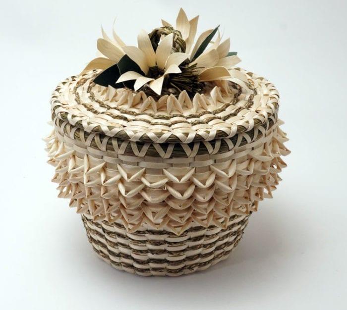 Molly Neptune Parker Braided Sweetgrass Flower Basket