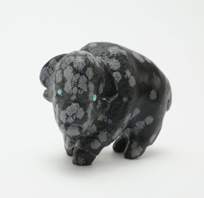 Clive Hustito snowflake obsidian bison