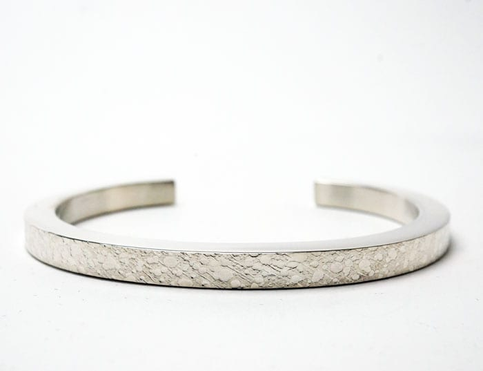 Chris Pruitt textured silver bracelet