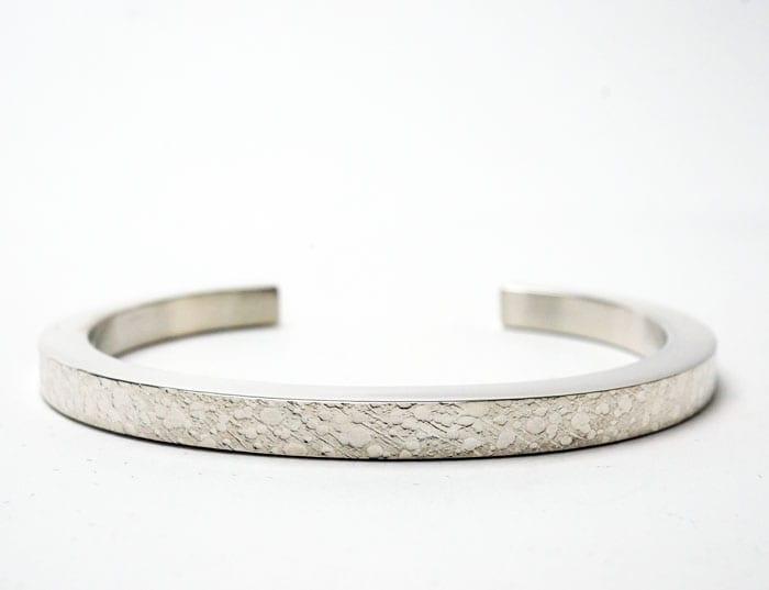 Chris Pruitt textured silver bracelet