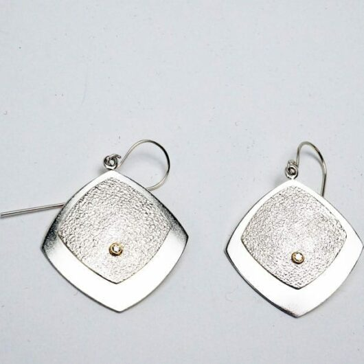Chris Pruitt sterling silver diamond earrings