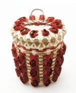 Claire Neptune dark red fancy curl basket