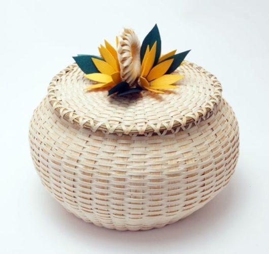 Frances Soctomah flower basket