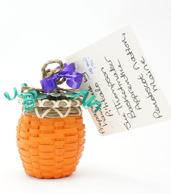 Sue Thompson Miniature Pumpkin Basket