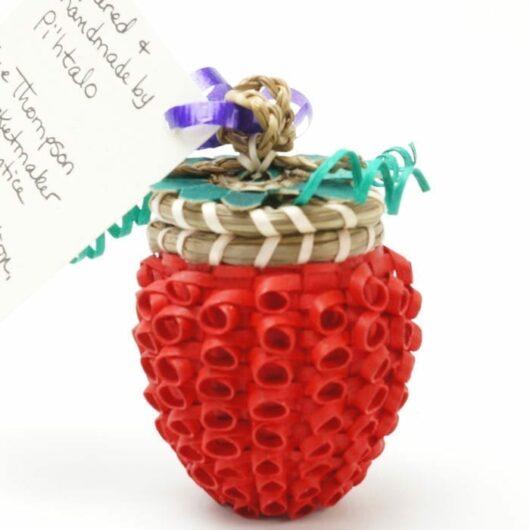 Sue Thompson Raspberry Basket
