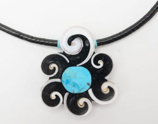 Mary Tafoya Swirl Flower Necklace