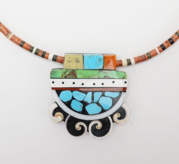 Mary Tafoya mosaic necklace