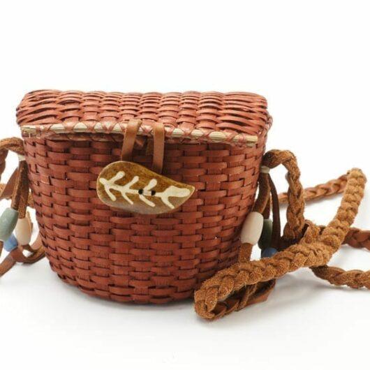 Miniature woven ash purse