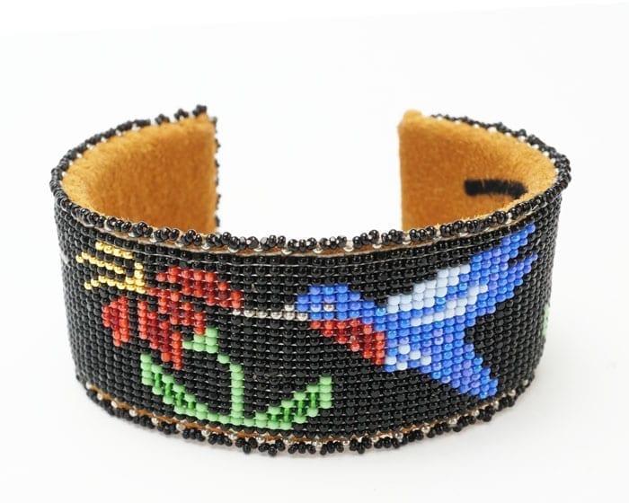 Teri Greeves black hummingbird bracelet