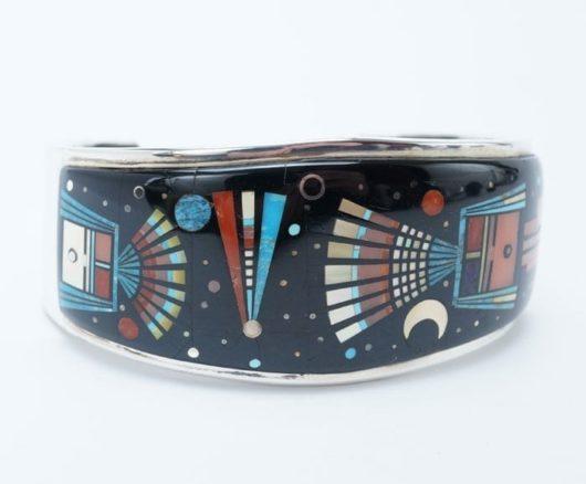 Ervin Tsosie inlaid bracelet