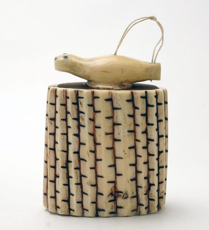 Antique Alaskan Eskimo snuff box