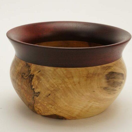 Buy Dewey Owl Box elder bloodwood bowl