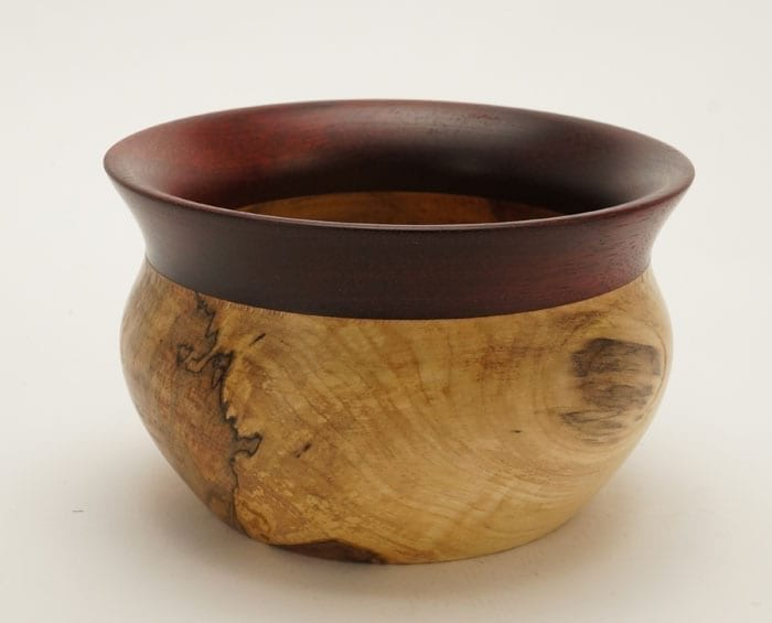 Buy Dewey Owl Box elder bloodwood bowl