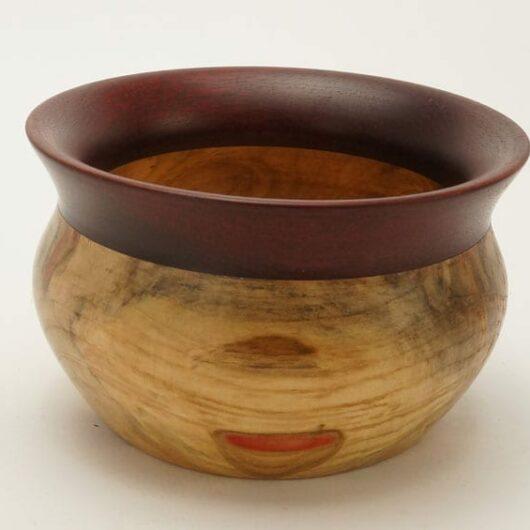 Dewey Owl elder wood-bloodwood bowl
